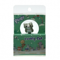 Earphone jack plug grey cat