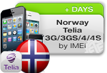 Norway Telia iPhone 3G/3GS/4
