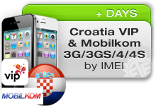 Croatia VIP | Mobilkom iPhone 3G/3GS/4/4S