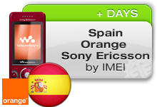 Spain Orange Sony Ericsson