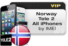 Norway Tele 2 All iPhones VIP
