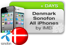 Denmark Sonofon All iPhones