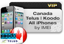 Canada Telus | Koodo all iPhones