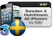 Sweden 3 Hutchison All iPhones VIP