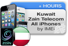 Kuwait Zain Telecom All iPhones