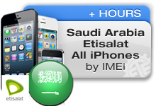 Saudi Arabia Etisalat All iPhones