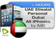 UAE Etisalat Personal Dubai All iPhones
