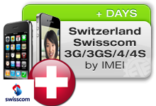 Switzerland Swisscom iPhones 3G/3GS/4/4S
