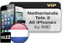 Netherlands Tele 2 All iPhones VIP