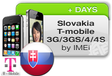 Slovakia T-Mobile iPhones 3G/3GS/4/4S