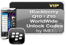 Blackberry Q10 | Z10 Unlock Codes VIP