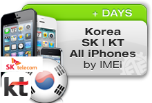 Korea SK TELECOM | KT FREETEL All iPhones