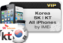 Korea SK TELECOM | KT FREETEL All iPhones VIP
