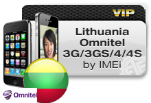 Lithuania Omnitel iPhones 3G/3GS/4/4S