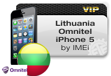 Lithuania Omnitel iPhone 5 VIP
