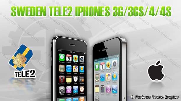 Sweden Tele2 iPhones 3G/3GS/4/4S