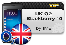 UK O2 Blackberry 10 VIP