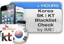 Korea Networks IMEI Blacklist Check