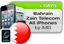 Bahrain Zain Telecom All iPhones