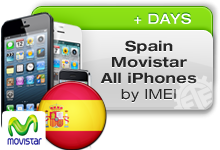 Spain Movistar All iPhones