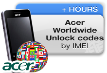 Acer Worldwide Unlock codes