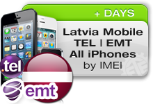 Latvia Mobile Tel|LMT All iPhones