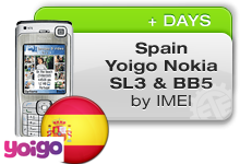 Spain Yoigo Nokia SL3 | BB5