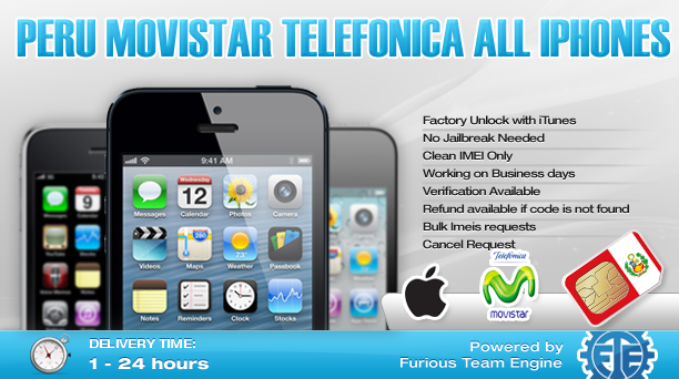 Peru Movistar Telefonica All iPhones