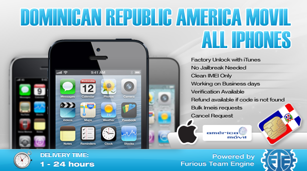 Dominican Republic America Movil All iPhones