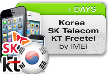 Korea SK TELECOM | KT FREETEL All iPhones Xpress