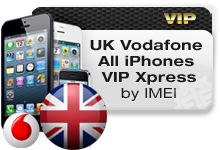 UK Vodafone All iPhones VIP Xpress