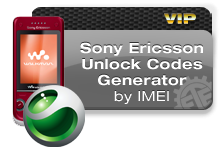 Sony Ericsson Unlock Codes VIP
