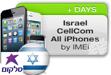 Israel Cellcom All iPhones