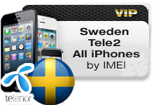 Sweden Tele 2 All iPhones VIP