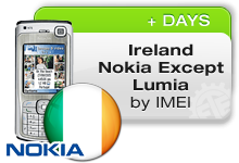 Ireland Nokia except Lumia