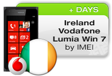 Ireland Vodafone Nokia Lumia 7