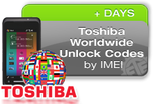 Toshiba Worldwide unlock codes